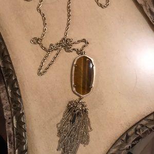 Tiger eye stone Kendra Scott necklace